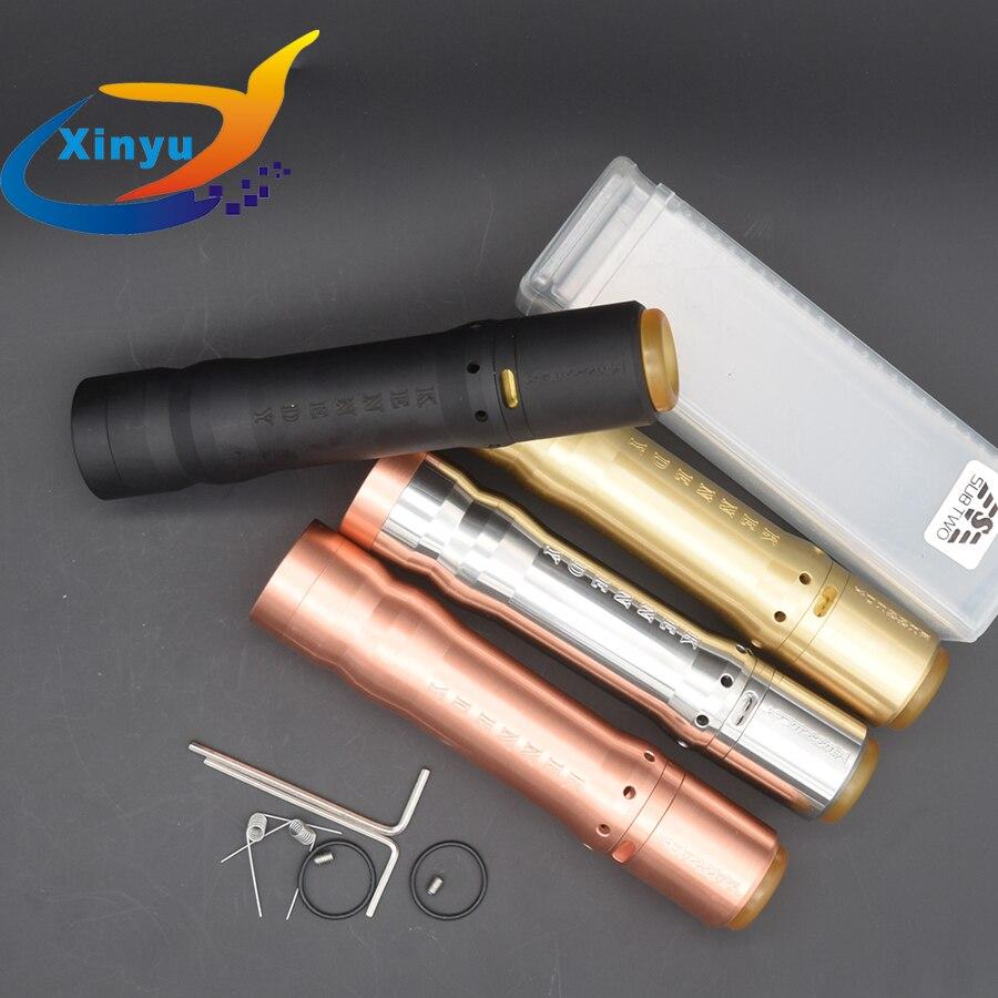 2 pièces 1:1 Kennedy vindicateur mod kit 18650 20700 21700 batterie Vape vaporisateur Mod 26mm diamètre laiton rouge cuivre e cigarette kit