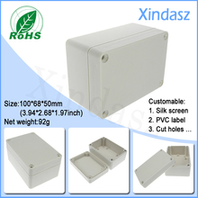 100*68*50mm plastic enclosure for electronics, waterproof junction box plastic box electronics ip65