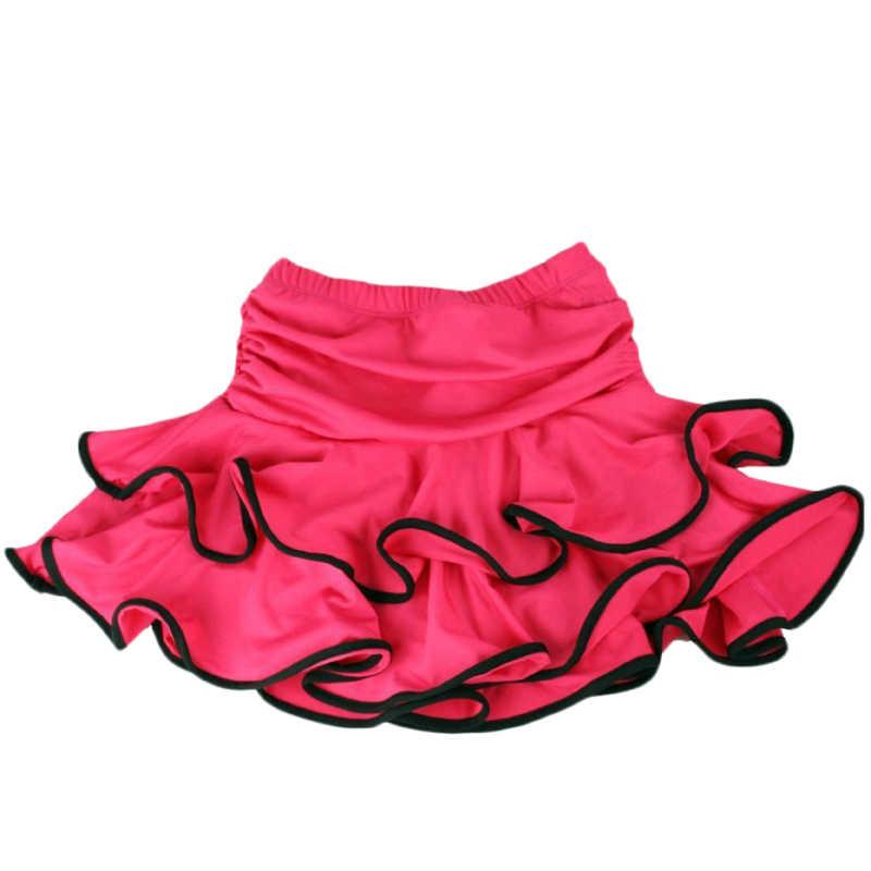 เต้นรำละตินสาวบอลรูมSamba Chachaชุดเต้นรำภายในกางเกงขาสั้นเด็กMiniกระโปรง