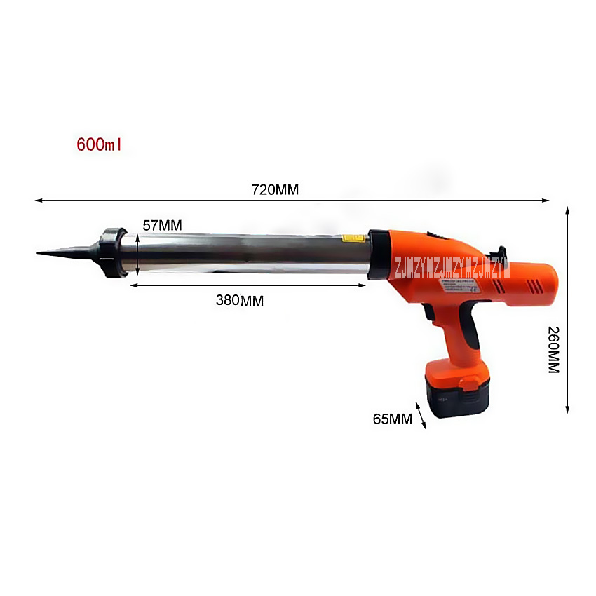 12V Electric Silicone Gun / Electric Glass Gun Glue Gun 600ml Electric or Battery Cordless Sausage Gun for Silicone Hot Selling