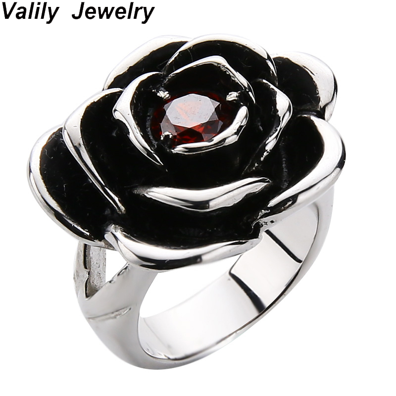 Valily Women 925 sterling silver Rose flower shape Rings Fashion Wedding Engagement Rings Jewelry for Female Men Love Ring Gift недорого