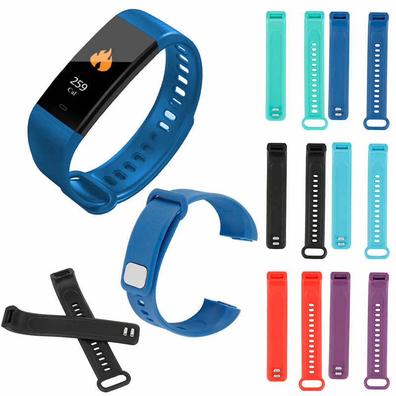 Dropshipping Adjustable Bracelet Clasp Smart Bracelet Replacement Silicone Strap Band for Y5 Smart Bracelet Sport Wristbands
