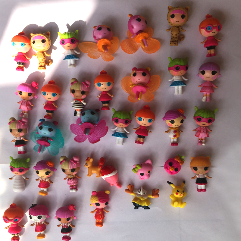 10pcs/lot Mini Lalaloopsy baby Doll Bulk Button Eyes Action Figure Children Toy Juguetes Brinquedos Toys For Girls mini doll toy 1