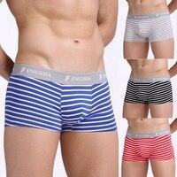 Men Cotton Boxer 4pcs/lot Stripe Man Boxers Homme Fashion Underwear Men Comfortable Underpants Soft Breathable Male Panties