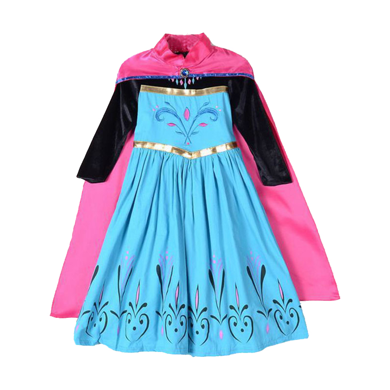 a6a77671ea8c2 US $11.92 20% OFF|Snow Queen Princess Anna Elsa Dresses for Girls Party  Birthday Frozen Elsa Dress Cosplay Elza Costumes Kids Girls Clothing-in ...