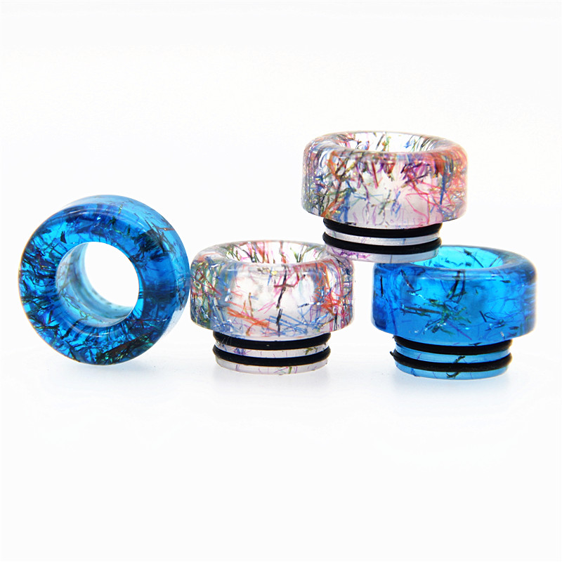 New Epoxy Resin Drip Tip 810 E Cigarettes Accessory Round Style Vape Mouthpiece For Rda Rta Atomizer Wide Bore Rainbow Color