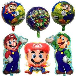 50 шт Супер Братья Марио воздушные шары фильм фанаты игры воздушный шар мультфильм Луиджи Марио майлар воздушный гелиевый баллон шар для укр...