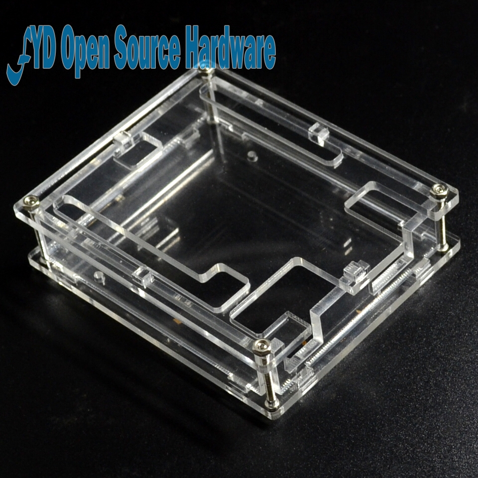 1Set UNO R3 Shell Acrylic Clear Box Enclosure Transparent Case Shell For Uno R3 Board Module