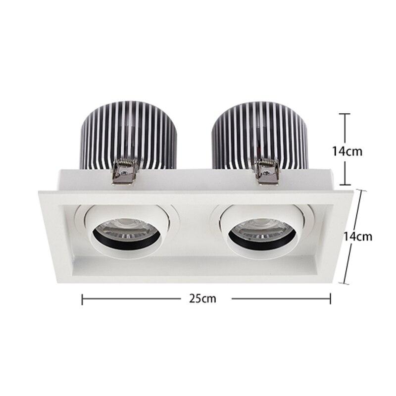 SCON AC110-240V Double head 60W high bay light 4800LM CREE COB CRI Ra>85 office living room supermarket modern ceiling lamp