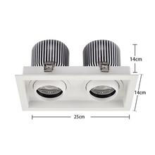 цены SCON AC110-240V Double head 60W high bay light 4800LM CREE COB CRI Ra>85 office living room supermarket modern ceiling lamp