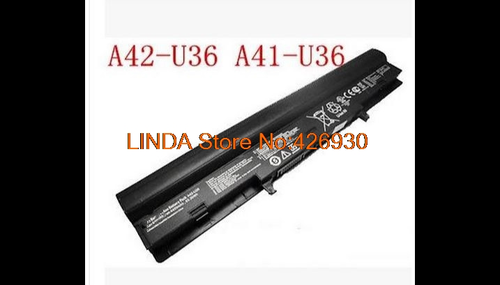 Laptop battery For ASUS A41-U36 A42-U36 U32 U32U U36 U36J U36JC U36S U36SD U36SG U40 U44 U44S 14.88V 5600MAH 83WH 8CELL new a32 u47 laptop battery for asus a41 u47 a42 u47 u47 u47a u47c q400 q400c r404 r404vc