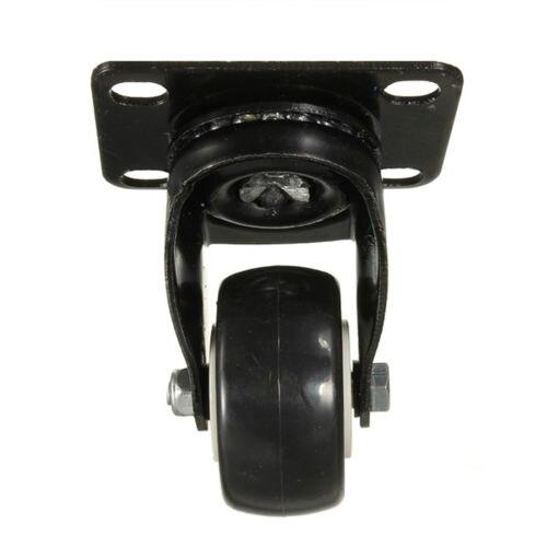 4 pcs Heavy Duty 200kg 50mm Swivel Castor Wheels Trolley Furniture Caster Rubber light duty welding rotator 200kg bdaring support
