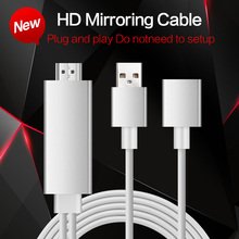 High Speed Aluminum HDMI HDTV AV Cable For iPhone/5S/6/6 plus/6S Plus/7/ipad Samsun Support HD1080P connection TV HDTV projector