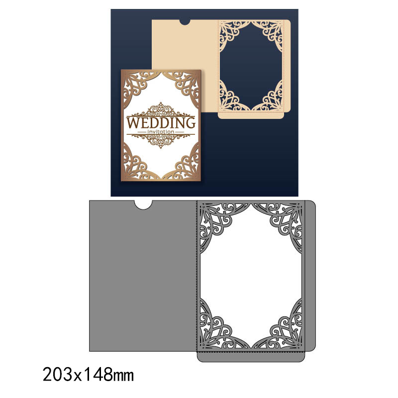 Cutting dies Paper art handbook greeting card production scrapbooking stamping Carbon steel die Greeting card mould WJ009