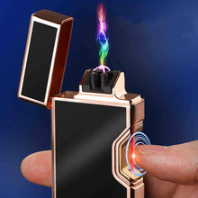 Infrared Switch Plasma Usb Cigarette Electric Lighter Gadgets for Men Electronic Arc Metal Rechargeable Lighters Weed Smoke