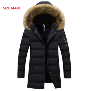 Image 5 - New Winter Mens Parkas Coats 웜 자켓 캐주얼 파카 남성 롱 자켓 캐주얼 슬림 피트 후드 의류 대형 5XL 6XL