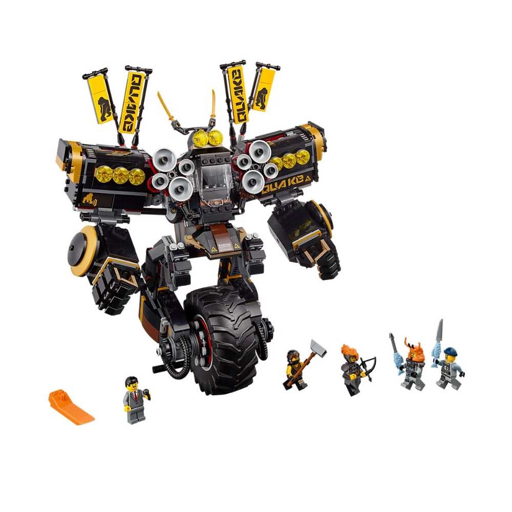 Lepin Ninjagoe Kit 1346pcs Building Blocks Compatible Legoe Ninjagoe 70632 toys for Childrens Bricks Quake Mech Model boy gifts lepine 06069 1346 pcs ninjagoe quake mech set jay kai a gang s model building blocks toys for children compatible legoe 70632