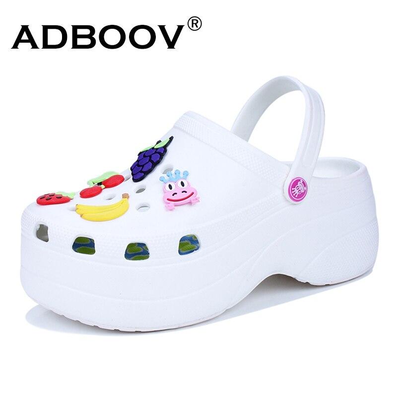 ADBOOV Cute Sandals Women Increase Height 6 CM Platform Sandals Clogs Mules Shoes Women Slippers Sandales Femme 2018 Nouveau