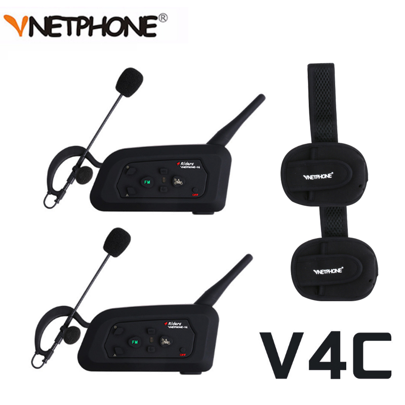 Vnetphone V4C casque d'interphone d'arbitre de Football Vnetphone 1200 M casque Bluetooth Duplex complet avec Interphone d'arbitre FM V4C