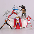 "Free Shipping Cool 4"" Ultraman Tiga Monster Superman vs Moster The 5th PVC Action Figure Collection Model Toy (5pcs per set)"