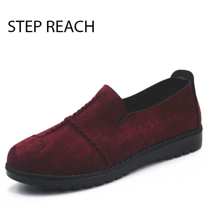STEPREACH Brand shoes woman Flats women zapatos mujer chaussures femme sapato feminino ladies loafers sewing solid slip-on rubbe ...
