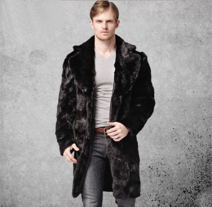 Aliexpress.com : Buy New 2016 Men's Splice Fur Coat Natural Mink ...