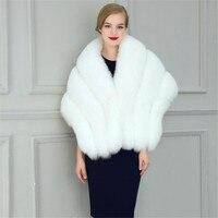 トレンディ花嫁ウェディングドレス固体メイド繊維白黒フェイクファーショール結婚式ショール少しショール907