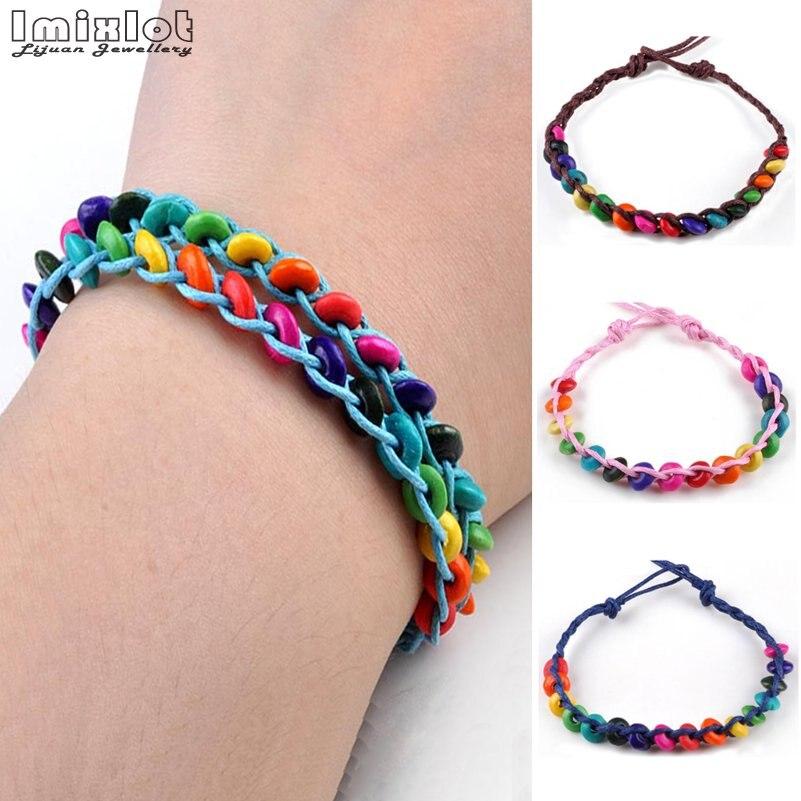 wholesale 50pcs wood wooden kids children/'s party birthday wristbands bracelets