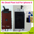 1PCS White Color No dead pixel AAA Quality made in China 6g LCD touch Screen lcd Display Digitizer complete NEW For iPhone 6
