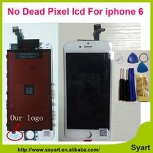 1 STÜCKE Weiße Farbe Keine tote pixel AAA Qualität made in China 6g lcd touch screen lcd display digitizer komplett neue für iphone 6