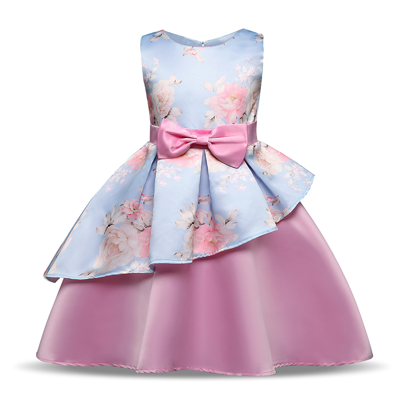 Summer Girl Party Frock Fancy Princess Pink Costume For Kids Clothes Wedding Birthday Dress Outfits Formal Children Events Wear платье frock and frill frock and frill fr055ewdlds8