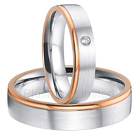 China Manufacturer high quality rose gold color custom titanium jewelry wedding rings men and women