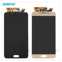 5.2″ Black/Gold For Samsung Galaxy C5 C5000 Smartphone LCD Display Digitizer Touch Screen Full Assembly Repair Replacement Parts