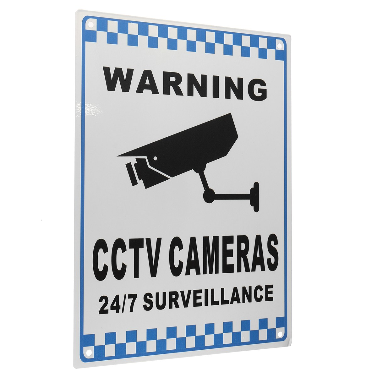 NEW Safurance CCTV Warning Security Video Surveillance Camera Safety Sign Reflactive Metal Home Security