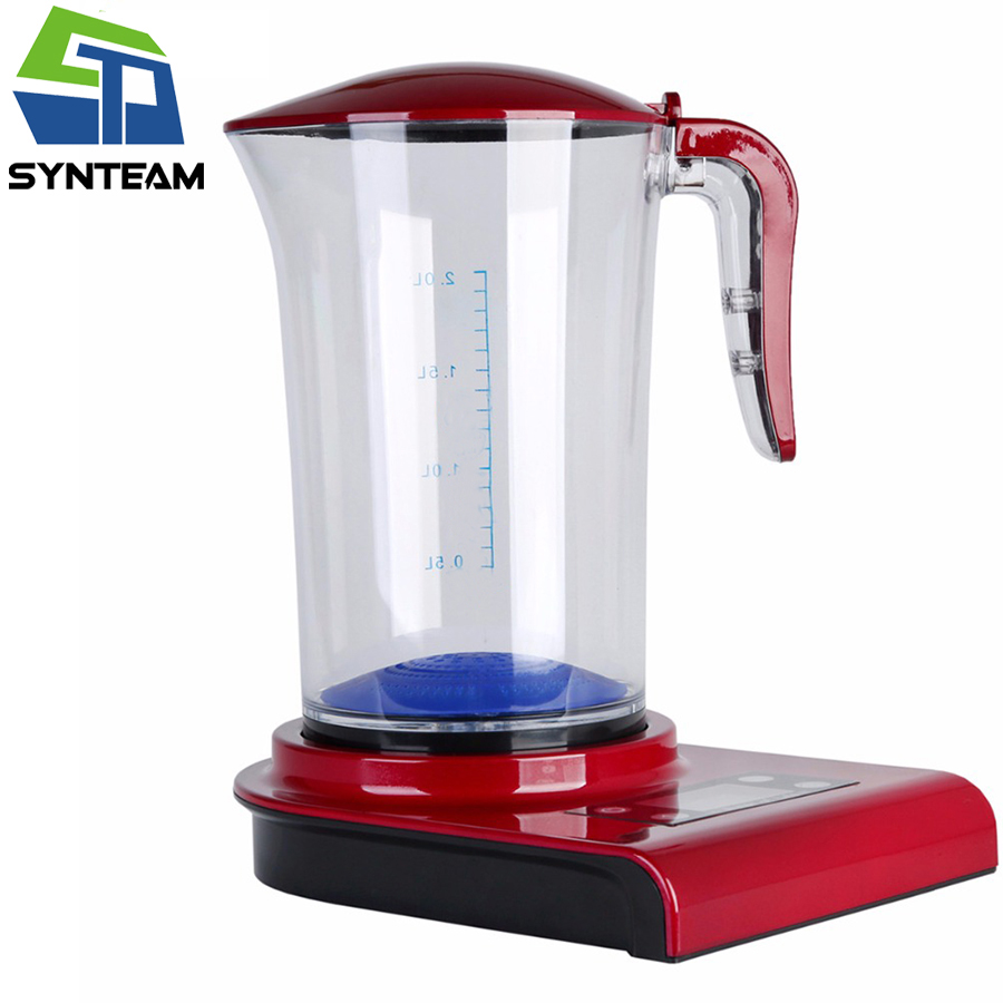 SYNTEAM 2.0L Large Hydrogen Water Maker Brand Alkaline Water Ionizer Hydrogen Generator HEALTH CARE PRODUCT Anti Aging WAC001 hydrogen water generator hydrogen water maker alkaline water ionizer kettle 2000ml health care product 100 240v