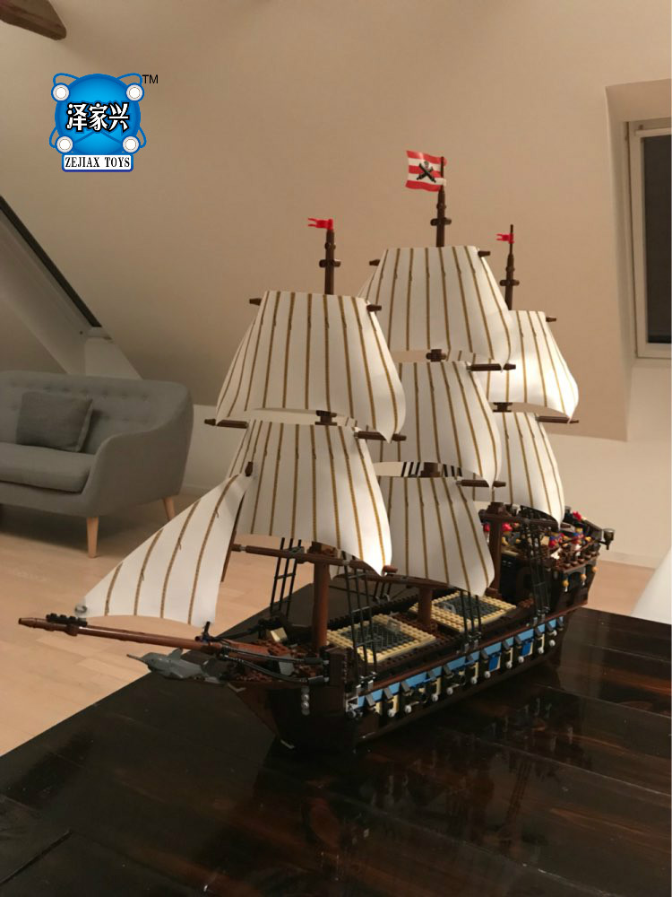 Hot Sale 1717pcs Pirate Ship Imperial Warships Model Building Kits Block Briks Toys Gift Compatible Lepins Christmas Gift bevle store lepin 22001 4695pcs movie series pirate ship imperial warships model building blocks children toys compatible 10210