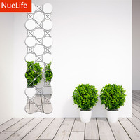 Geometric Circle Wave Pattern Acrylic Mirror Sticker TV Sofa Living Room Bedroom Entrance Porch Wall Decoration Wall Stickers