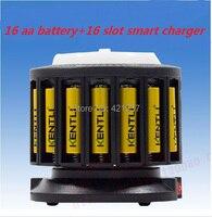 Бесплатная доставка супер пакет 16 шт. 1.5 В AA 2400mwh литий ионный Литий полимерный Rechargeble Батарея + мульти fuctinal быстрое зарядное устройство