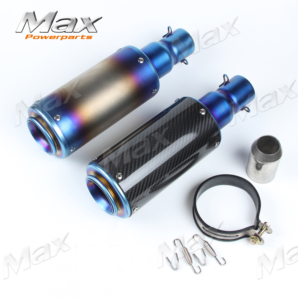 Titanium carbon fiber motorcycle GP-Force dirt bike exhaust pipe muffler silencieux moto escape silenciador modificada