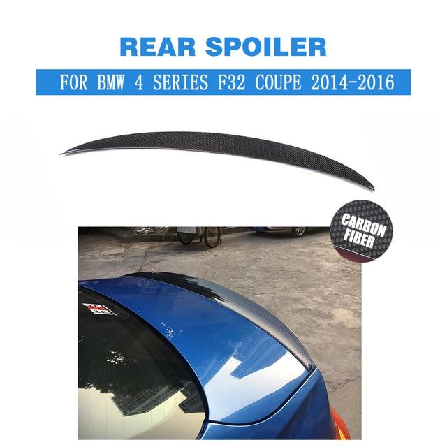 Für BMW 4 Serie F32 M Sport 420i 428i 430i 435i Coupe 2014-2016 Carbon Fiber Hinten Stamm Spoiler lip Flügel Boot Lip