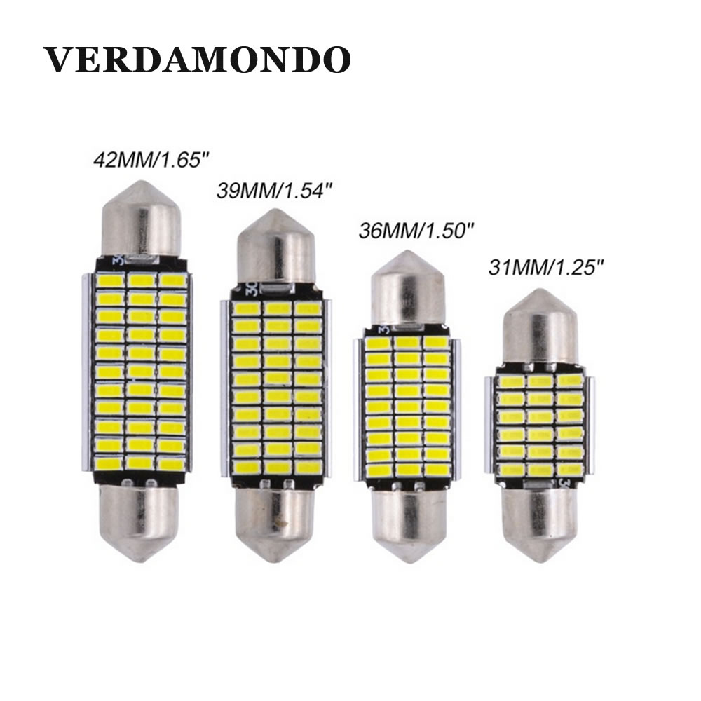 Car Festoon LED Light 31mm 36mm 39mm 41mm Canbus C5W Led Light Bulb 3014 SMD Interior Dome Lamp Car Styling Light 12V