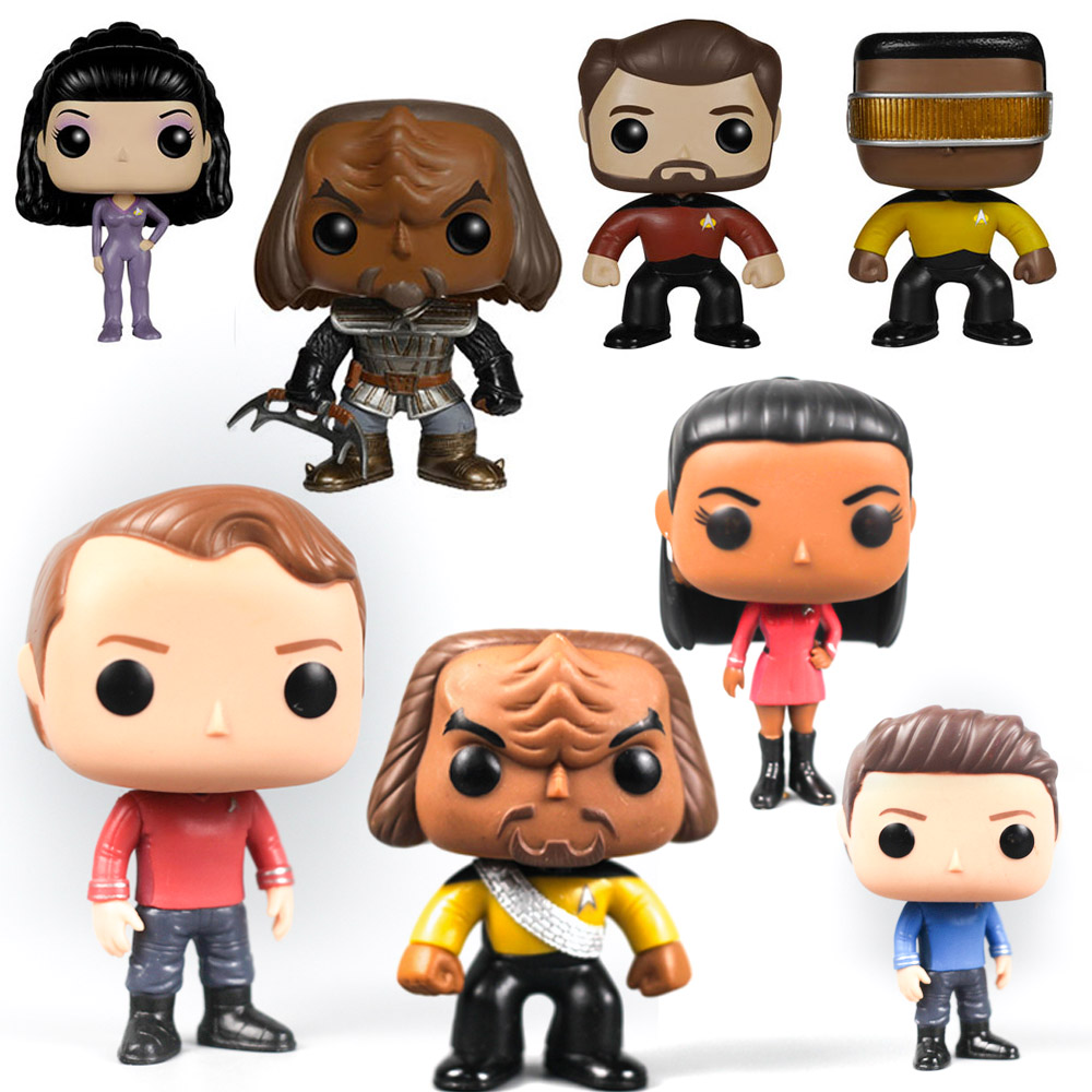 Star Captain Figures Toy Trek Dolls Klingon Bone Will Eiker Geordi Deanna Troi Captain Picard Discovery Collections image