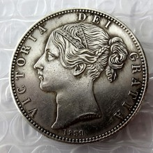 1839 Queen Victoria Young Head Silver Crown Coin - Great Britain Silver Plated Copy Coins(China)