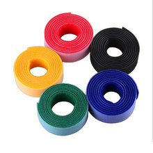 Nylon Cable Manager Cable Winder Cords Mark Colorful Ties Label Belting Ribbon Wire 1M Hook Loop