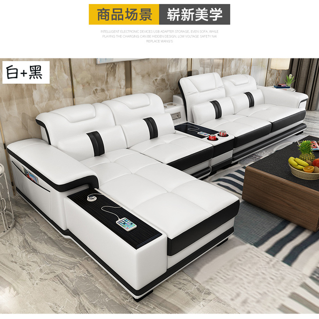 Living Room Sofa set furniture real genuine leather sofas recliner salon couch puff asiento muebles de sala canape L sofa cama