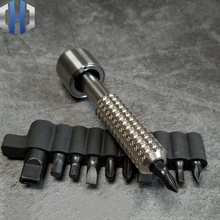 Handmade Titanium Palm Screwdriver Fingertip Screwdriver Screwdriver Gyro 6mm Batch Head EDC Equipment Tool screwdriver gyro titanium toy rotary multifunction screwdriver set edc multi tools
