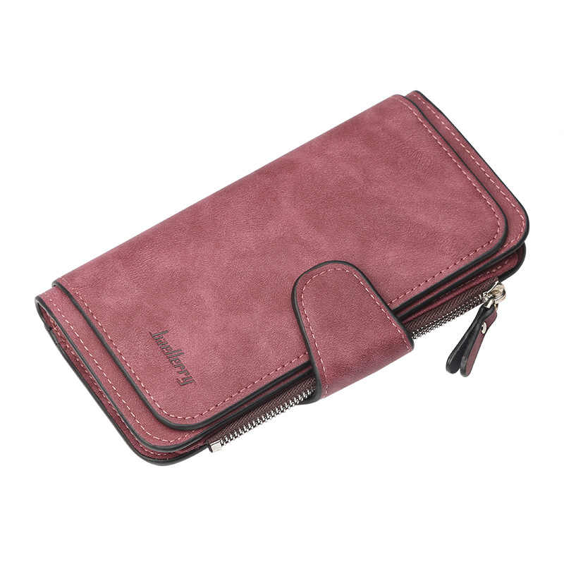 874b3682bac5 Новый высокое качество бумажник для женщин большой ёмкость три раза леди  кошельки Скраб кожаный женский женские