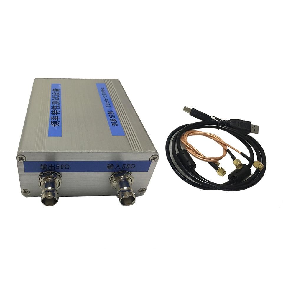 Vassoura NWT200 50KHz ~ 200MHz Analisador de Rede do Filtro Características De Freqüência Amplitude Fonte de Sinal