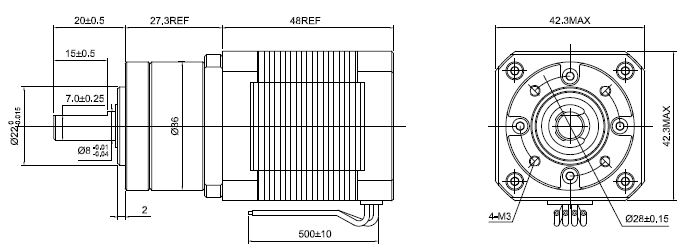 5:1 Planetary Gearbox High Torque Nema 17 Stepper Motor 1