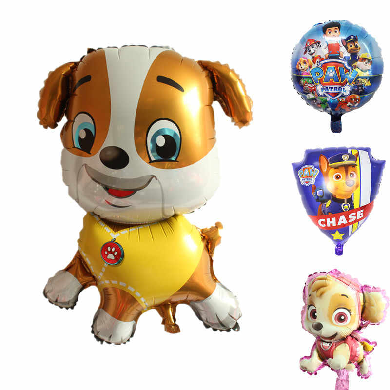 1Pc Paw Patrol บอลลูนฟอยล์รูปสุนัขการ์ตูนตกแต่ง Chase Marshall Ryder Paw Patrol Dog Balloon